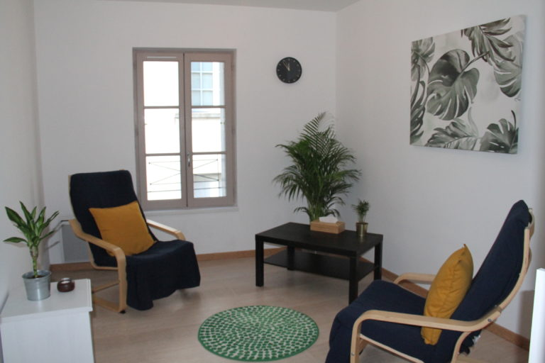 I would be happy to welcome you at my office for counselling and psychotherapy sessions: 1 Bis Rue Auguste Chevallier, Sainte Maure de Touraine, 37800 France
